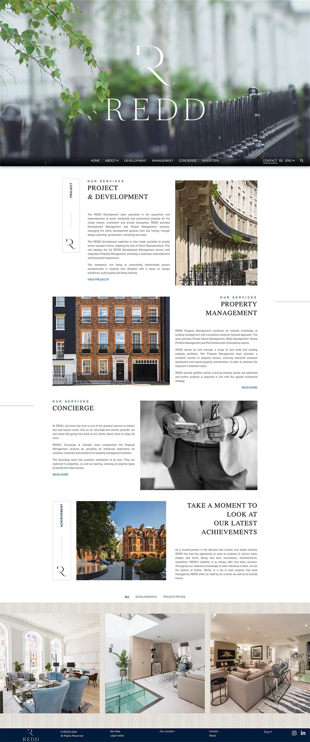 Création du site de l'agence immobilière Monaco