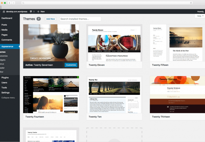 Screenshort Wordpress