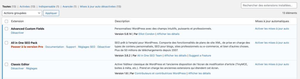 Mise à jour automatique WordPress 5.5