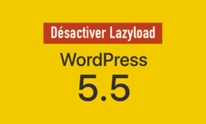 Désactiver le Lazy Load de WordPress 5.5+