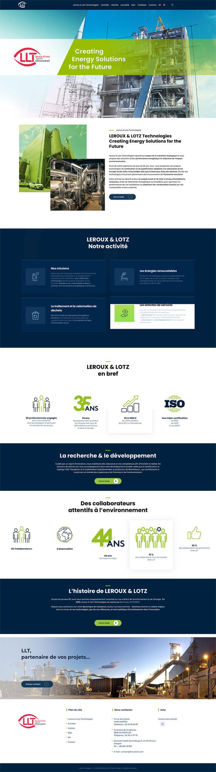 Page accueil Leroux & Lotz